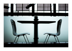 Two empty chairs