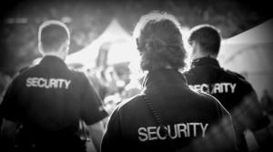 Three unifomred security guards