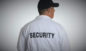 Photo of security guard shirt back
