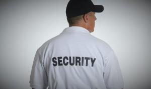 Photo of security guard shirt back