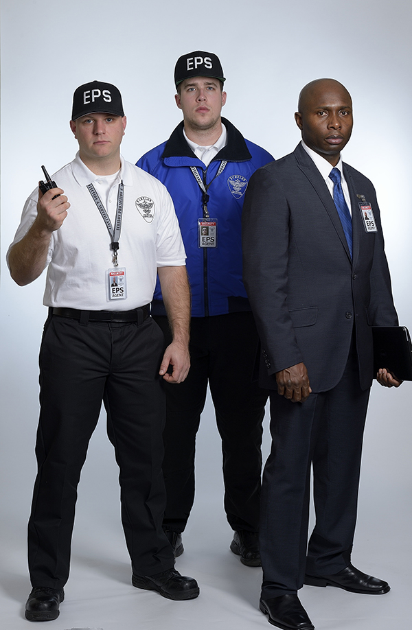 Three Uniformed Security Guards
